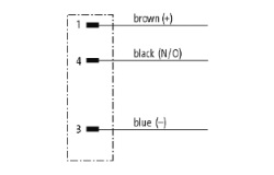 Geberkabel, M8-Stecker, Kabelbelegung